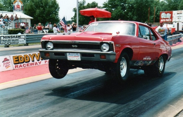 69 Chevy Nova | Wheel Stand Drag Races
