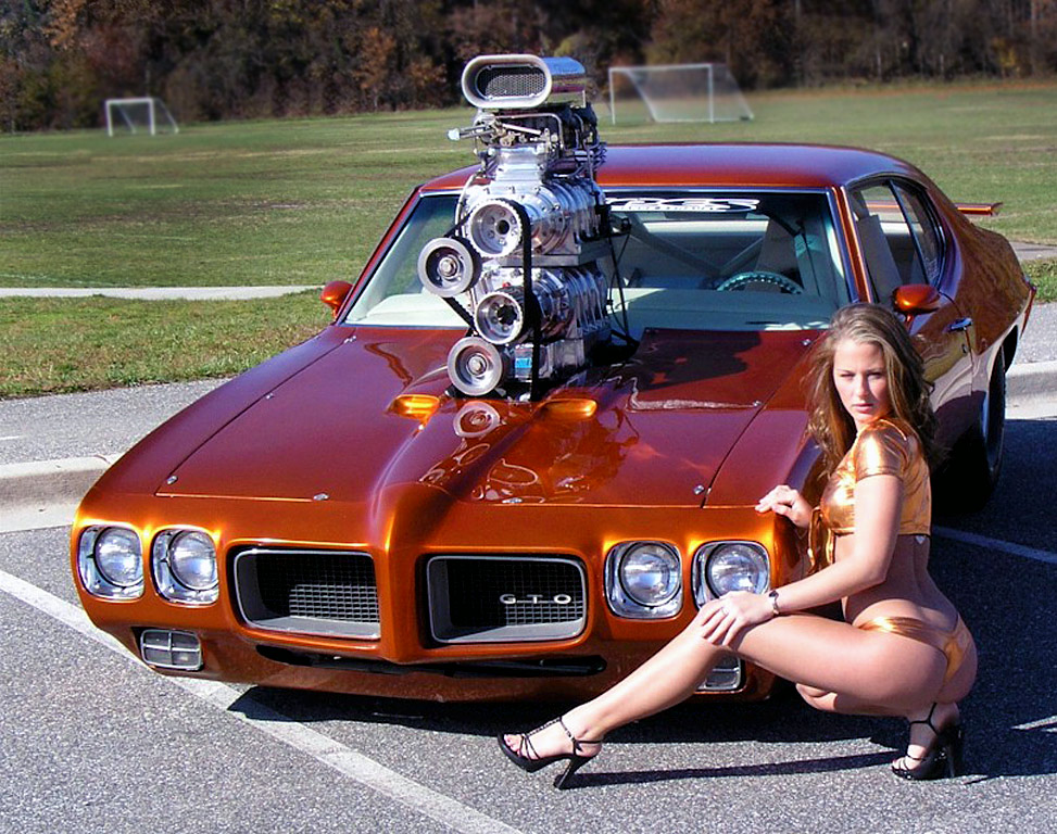 Girls cars and hot rod