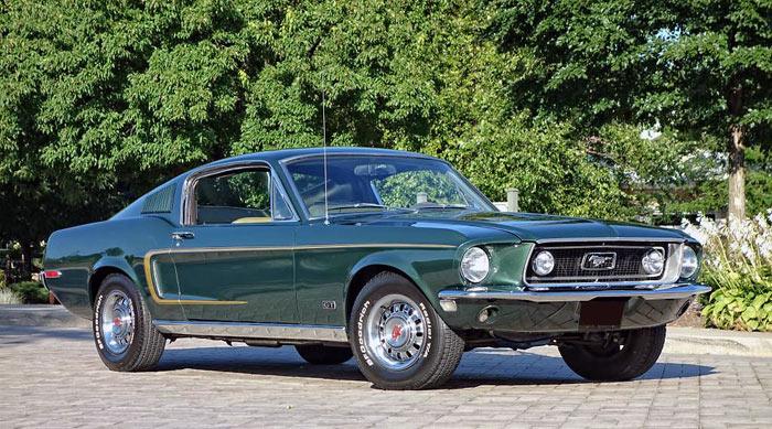 1968 ford mustang fastback for sale dark green. Black Bedroom Furniture Sets. Home Design Ideas