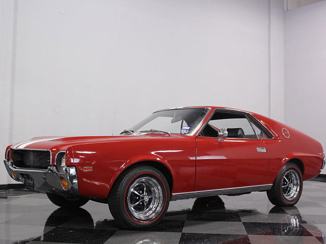 1969 AMC AMX 390 4 Speed Manual, Matador Red