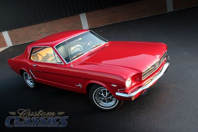 1965 Ford Mustang, C-code 289 200hp 4-speed, Poppy Red, 289 Badge157575