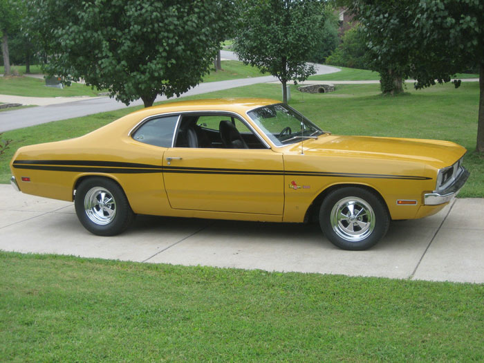 1971 Dodge Demon, H code 340 Automatic, EL5 Butterscotch, 727 trans, 3.55 gears.1