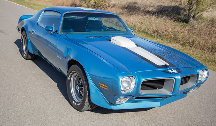1971 Pontiac Trans Am 455 HO 4 Speed, Lucerne Blue
