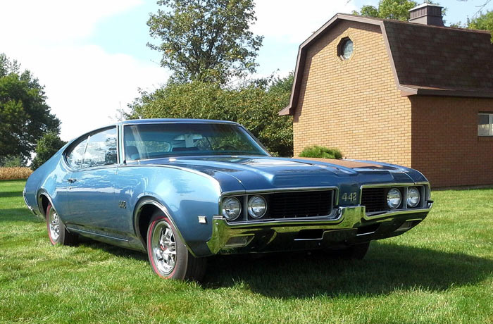 1969 Oldsmobile 442 Numbers Matching Trophy Blue