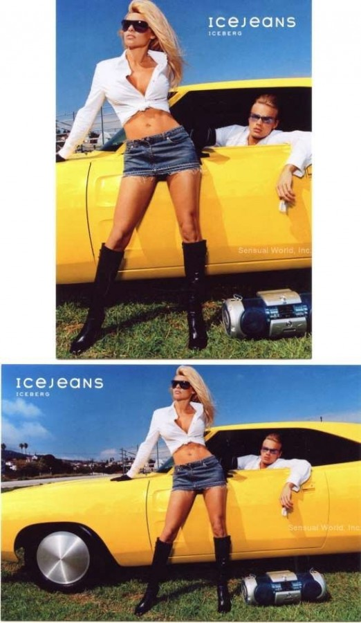 PAMELA ANDERSON With Dodge Charger