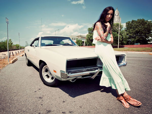 Gabrielle -1969 White Dodge Charger RT