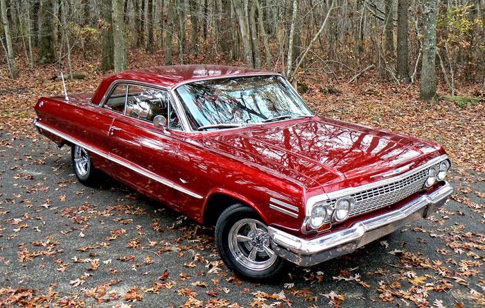 1963 Chevrolet Impala Metallic Red 283 4bbl V8 2 Speed