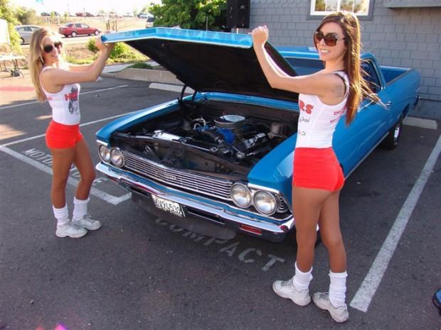 1966 Chevrolet El Camino Malibu Girls.