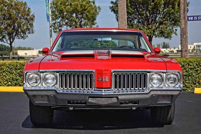 1970 Oldsmobile 442 455CI. 4-Spd Matador Red, 3.23 rear