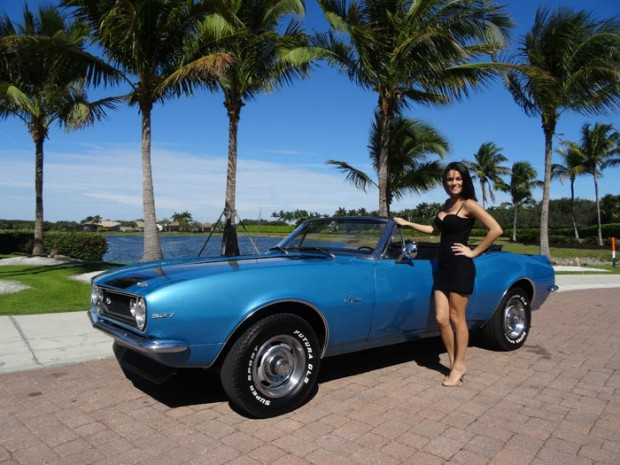 1967 Chevrolet Camaro Convertible Girl Muscle Car