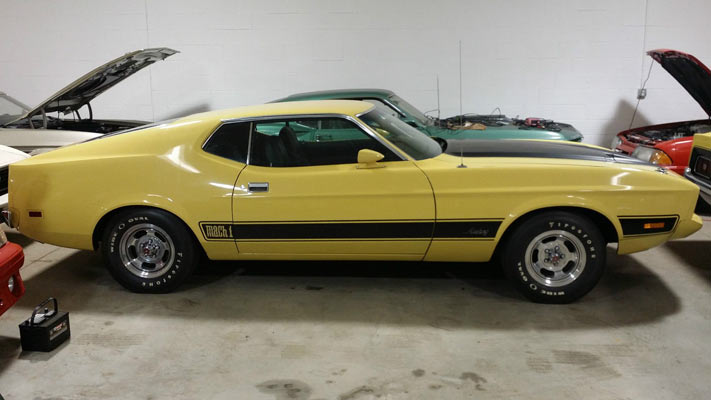 buy of the day 1973 ford mustang mach 1 unrestored survivor muscle car. Black Bedroom Furniture Sets. Home Design Ideas