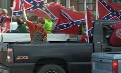 Confederate Flag Parade Truck Smash