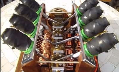 V8-solenoid-engine