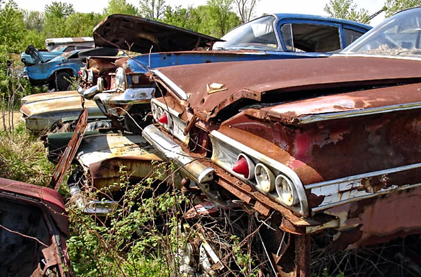 Muscle Car Junkyards Wrecked Vintage Classics Muscle Car