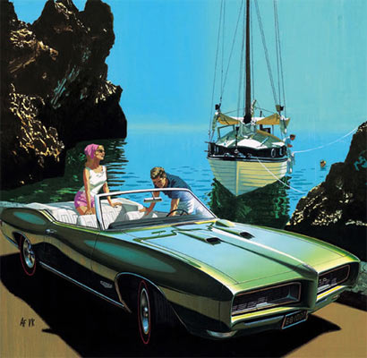 Art Fitzpatrick Iconic Muscle Car Artwork Muscle Car