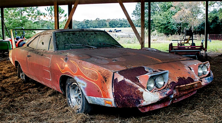 Barn Find Dodge Charger Daytona Sells At Mecum Auction