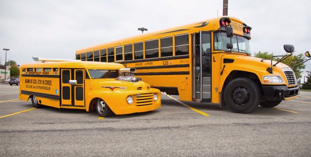 is this the coolest school ride the hotrod shortcut high bus muscle car. Black Bedroom Furniture Sets. Home Design Ideas