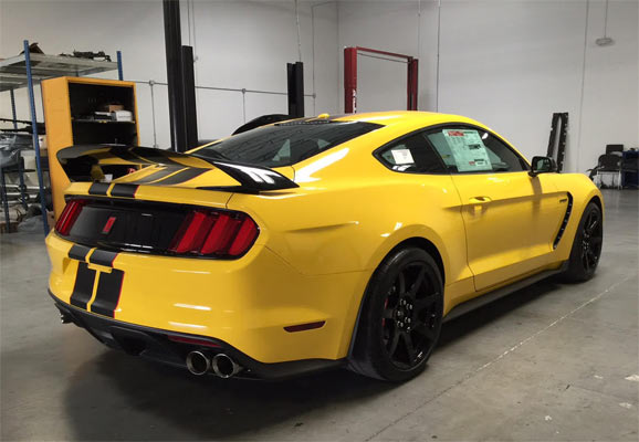 2016 Ford Mustang Gt350r Triple Yellow Muscle Car