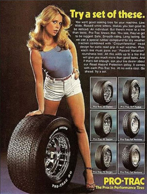 Old Car Ads Pro Trac Tires Muscle Car