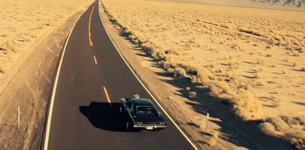 Helicopter View Music Video With A 1968 Dodge Charger