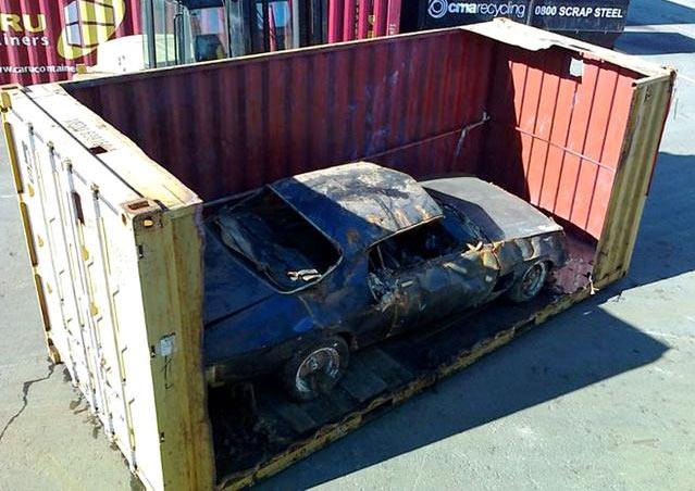 1972 Monaro Muscle Car Wrecked on Rena Container Ship ...