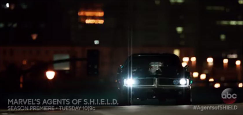 Agents Of S H I E L D With Muscle Car And Ghost Rider
