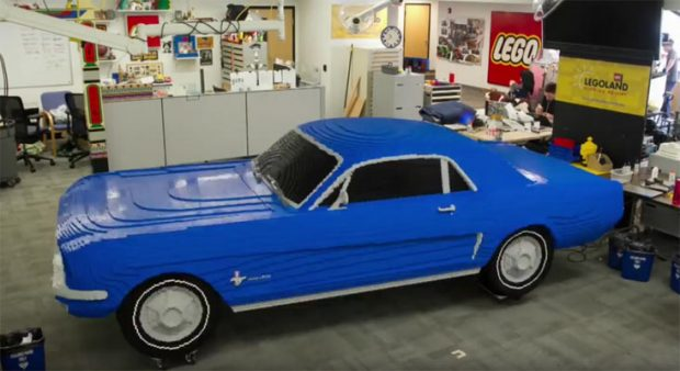 lego makes 1964½ ford mustang v8 muscle car - muscle car