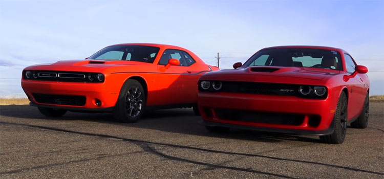 Challenger 2017 >> 2017 Dodge Challenger Hellcat vs Challenger GT AWD Drag Race - Muscle Car