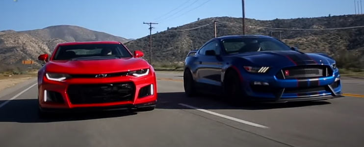2017 Ford Mustang Shelby Gt350r Vs 2017 Chevy Camaro Zl1 Muscle Car