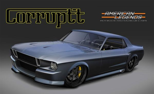 corruptt the custom 1968 mustang by american legends muscle car. Black Bedroom Furniture Sets. Home Design Ideas
