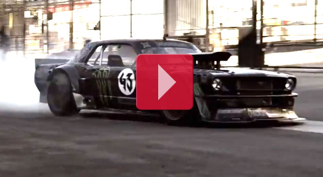 1965 Ford Mustang 845bhp, four-wheel-drive. KEN BLOCK'S GYMKHANA SEVEN: WILD IN THE STREETS OF LOS ANGELES