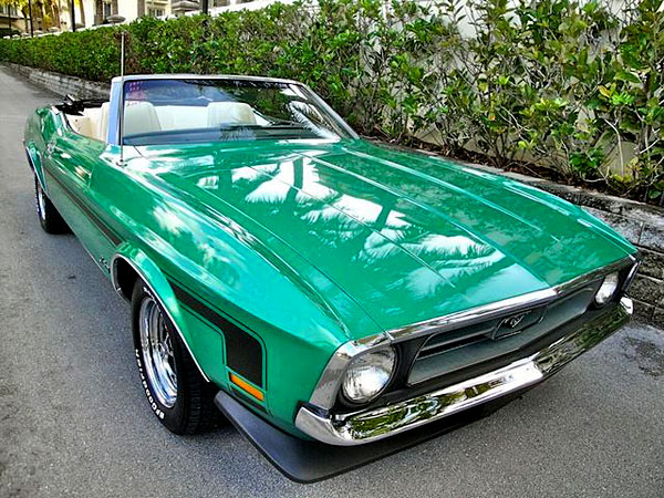 1971 Ford Mustang Convertible 351 WINDSOR 5.8L, Body-76D, Trans-U, Trim-1W1